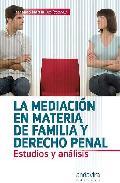 Portada de MEDIACION EN MATERIA DE FAMILIA Y DERECHO PENAL: ESTUDIOS Y ANALISIS