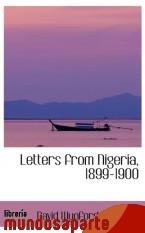 Portada de LETTERS FROM NIGERIA, 1899-1900