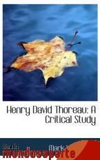Portada de HENRY DAVID THOREAU: A CRITICAL STUDY