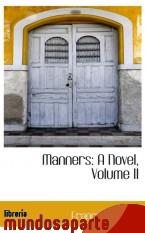 Portada de MANNERS: A NOVEL, VOLUME II
