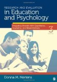 Portada de RESEARCH AND EVALUATION IN EDUCATION AND PSYCHOLOGY: INTEGRATING DIVERSITY WITH QUANTITATIVE, QUALITATIVE, AND MIXED METHODS 3RD (THIRD) EDITION BY MERTENS, DONNA M. PUBLISHED BY SAGE PUBLICATIONS, INC (2009)