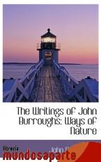 Portada de THE WRITINGS OF JOHN BURROUGHS: WAYS OF NATURE