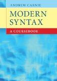 Portada de MODERN SYNTAX: A COURSEBOOK
