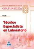 Portada de TECNICO ESPECIALISTA EN LABORATORIO  DEL SERVICIO NAVARRO DE SALUD-OSASUNBIDEA. TEST