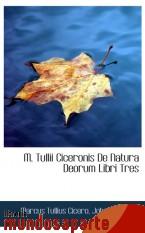 Portada de M. TULLII CICERONIS DE NATURA DEORUM LIBRI TRES