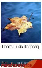 Portada de ELSON`S MUSIC DICTIONARY