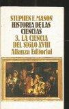 Portada de HISTORIA DE LAS CIENCIAS 3. LA CIECIA DEL SIGLO XVIII