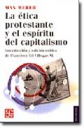Portada de LA ÉTICA PROTESTANTE Y EL ESPÍRITU DEL CAPITALISMO