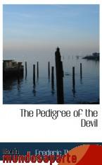 Portada de THE PEDIGREE OF THE DEVIL