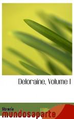 Portada de DELORAINE, VOLUME I