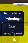 Portada de PSICOLOGO DE LA XUNTA DE GALICIA. VOL.II. TEMARIO