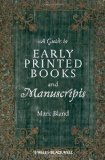 Portada de A GUIDE TO EARLY PRINTED BOOKS AND MANUSCRIPTS