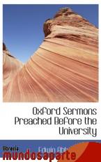 Portada de OXFORD SERMONS PREACHED BEFORE THE UNIVERSITY