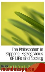 Portada de THE PHILOSOPHER IN SLIPPERS: ZIGZAG VIEWS OF LIFE AND SOCIETY