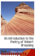 Portada de AN INTRODUCTION TO THE POETRY OF ROBERT BROWNING