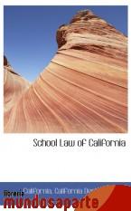 Portada de SCHOOL LAW OF CALIFORNIA