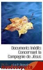 Portada de DOCUMENTS INÉDITS CONCERNANT LA COMPAGNIE DE JÉSUS