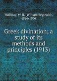 Portada de GREEK DIVINATION; A STUDY OF ITS METHODS AND PRINCIPLES (1913)