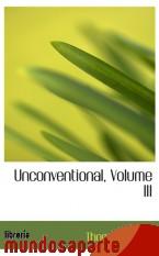 Portada de UNCONVENTIONAL, VOLUME III