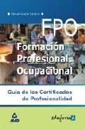 Portada de GUIA DE LOS CERTIFICADOS DE PROFESIONALIDAD