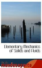 Portada de ELEMENTARY MECHANICS OF SOLIDS AND FLUIDS