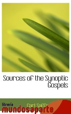 Portada de SOURCES OF THE SYNOPTIC GOSPELS