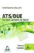 Portada de ATS/DUE DEL SERVICIO CANTABRO DE SALUD. TEMARIO VOLUMEN III