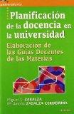 Portada de PLANIFICACIÓN DE LA DOCENCIA EN LA UNIVERSIDAD