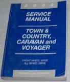 Portada de 2002 CHRYSLER TOWN & COUNTRY, DODGE CARAVAN, PLYMOUTH VOYAGER SERVICE MANUAL (CHRYSLER RS PLATFORM)