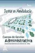 Portada de CUERPO DE GESTION ADMINISTRATIVA DE LA JUNTA DE ANDALUCIA