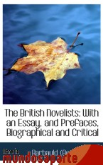 Portada de THE BRITISH NOVELISTS: WITH AN ESSAY, AND PREFACES, BIOGRAPHICAL AND CRITICAL