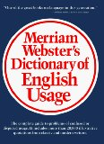Portada de MERRIAM-WEBSTER'S DICTIONARY OF ENGLISH USAGE (2ND ED)
