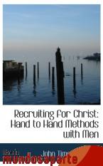 Portada de RECRUITING FOR CHRIST: HAND TO HAND METHODS WITH MEN