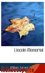 Portada de LINCOLN MEMORIAL