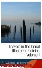Portada de TRAVELS IN THE GREAT WESTERN PRAIRIES, VOLUME II