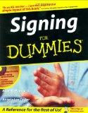 Portada de SIGNING FOR DUMMIES