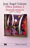 Portada de OBRA POETICA II:  MATERIAL MEMORIA