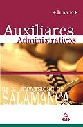 Portada de AUXILIARES ADMINISTRATIVOS DE LA UNIVERSIDAD DE SALAMANCA: TEMARIO