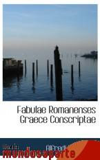 Portada de FABULAE ROMANENSES GRAECE CONSCRIPTAE