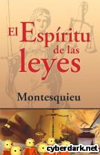 Portada de EL ESPÍRITU DE LAS LEYES - EBOOK