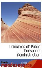 Portada de PRINCIPLES OF PUBLIC PERSONNEL ADMINISTRATION