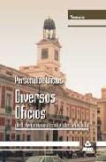 Portada de PERSONAL DE OFICIOS:  DIVERSOS OFICIOS DEL AYUNTAMIENTO DE MADRID