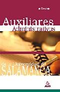 Portada de AUXILIARES ADMINISTRATIVOS DE LA UNIVERSIDAD DE SALAMANCA: TEST