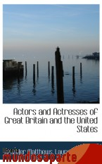 Portada de ACTORS AND ACTRESSES OF GREAT BRITAIN AND THE UNITED STATES