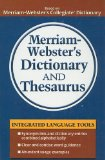 Portada de MERRIAM-WEBSTER'S DICTIONARY AND THESAURUS