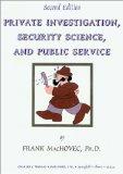 Portada de PRIVATE INVESTIGATION, SECURITY SCIENCE, AND PUBLIC SERVICE