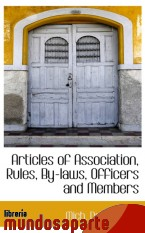 Portada de ARTICLES OF ASSOCIATION, RULES, BY-LAWS, OFFICERS AND MEMBERS
