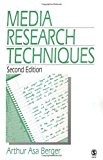 Portada de MEDIA RESEARCH TECHNIQUES BY ARTHUR ASA BERGER (1998-06-15)