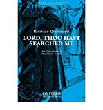 Portada de [(LORD, THOU HAST SEARCHED ME: VOCAL SCORE)] [AUTHOR: REGINALD UNTERSEHER] PUBLISHED ON (FEBRUARY, 2006)