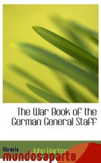 Portada de THE WAR BOOK OF THE GERMAN GENERAL STAFF